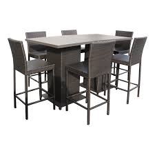 espresso napa pub table set with barstools 8 piece outdoor wicker patio furniture
