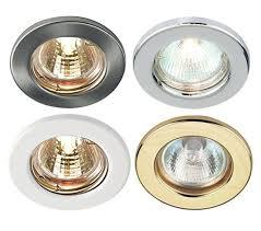 10 x mains 240v gu10 led fixed ceiling light spotlight downlight recessed fittin