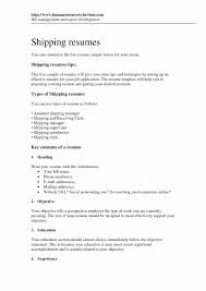 30 Luxury Shipping And Receiving Clerk Resume Free Resume Ideas