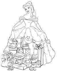 Disegni Da Colorare Disney Natalizi La Principessa Belle Disegni Con