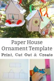 christmas house template cardboard christmas houses template