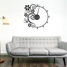 wall clock sticker gallery home design wall stickers