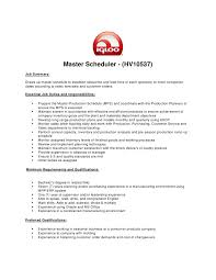 Resume Samples Hay Plant Scheduler
