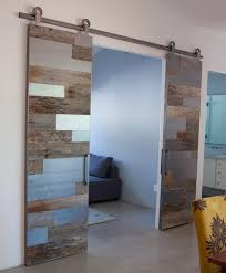 top frosted glass sliding barn door in modern home decoration ideas plan 11