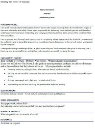 Brilliant Ideas Of Sample Resume For Driver Delivery Fancy Truck