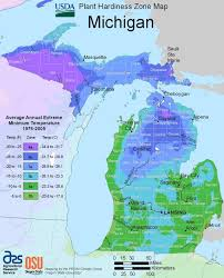 michigan plant hardiness zone map united states department of agriculture