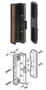sliding glass patio door handle set black type 1 for international