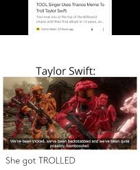 Tool Singer Uses Thanos Meme To Troll Taylor Swift Tool Now
