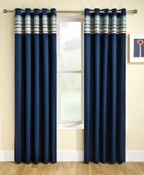 Wonderful Blue Curtains For Boy Room : Handsome Boy Bedroom Decoration With Navy  Blue Curtains For