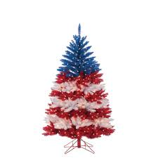 Red White And Blue Christmas Lights Sterling 5 Ft Patriotic American Artificial Christmas Tree