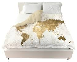Mapamundi White Gold  Duvet - Contemporary - Duvet Covers And ... &