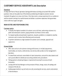 Sales Customer Service Job Description Under Fontanacountryinn Com