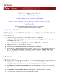 Mla Style Guide Quick Easy Version