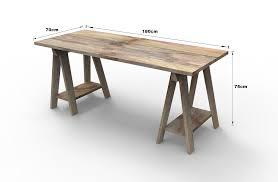sawhorse table legs diy