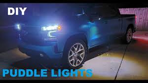 2016 Silverado Puddle Lights 2019 Silverado Puddle Light Install Under Mirror Led Diy