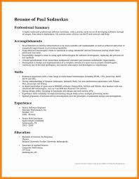 10 Career Summary Sample Career Summary For Resume Resume Samples