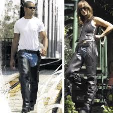 milwaukee motorcycle clothing co uni slinger black leather chaps