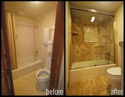 Renovating Small Bathroom Before And After Images Of Bathroom Shower Remodels Condo