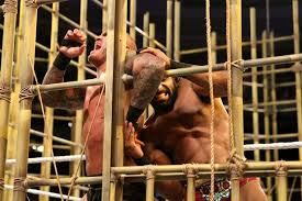 Image result for Jinder Mahal, with Great Khali, Beats Randy Orton to Win WWE Punjabi Prison Match