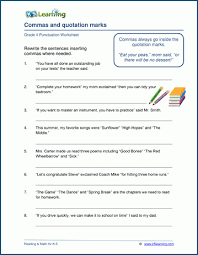 Grade 4 Punctuation Worksheets K5 Learning