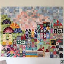 208 best Jen Kingwell Quilts images on Pinterest | Quilt block ... & Progress on my small world quilt, only 1 part left #mysmallworldqal  #mysmallworld Adamdwight.com
