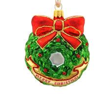 Weihnachtskranz Hanco Design Christbaumschmuck Aus Glas Mundgeblasen Handarbeit Von Hand Dekoriert 261401