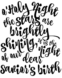 Oh Holy Night Black and White free printable o'holy night lyrics sign art the happy housie on signs please walk printable