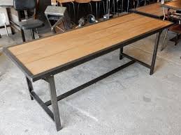 Table a manger bois et fer table salle à manger carrée bois | Somum