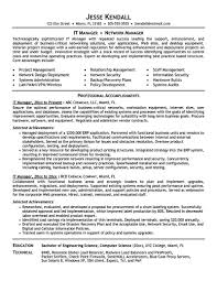 Objective Summary For Resumes It Manager Resume Consist Of Objective Or Summary Skills