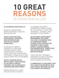 great reasons to choose new college new college pontefract 10 great reasons to choose new college