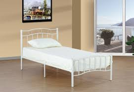 white metal platform bed. Modren Bed White Metal Bed U2013 T2300  With Platform B