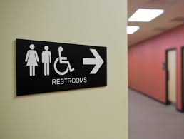restroom directional sign. Wayfinding Signs; Directional Signage; Toilet Signage Restroom Sign