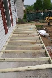 How to build a concrete house Construction Example Of Sleepers On Concrete How To Build Porch Over Concrete Home Improvement Pinterest