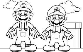 Small Picture Mario and Luigi in Mario Brothers Coloring Page Color Luna