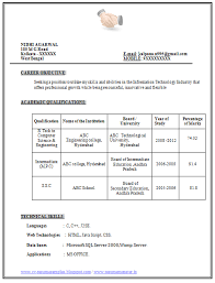 Resume Resume Format In Word Document Free Download For Freshers