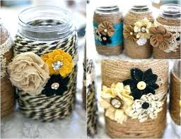 Decorating Ideas With Mason Jars Canning Jar Decor Idea Painted Mason Jars With Daisies Decorating 56