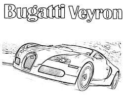 Super Fast Cars Bugatti Coloring Pages Womanmate Com