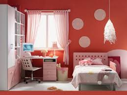 Orange Bedroom Curtains Girl Bedroom Showing White Swivel Chair And Pink Wooden Desk On
