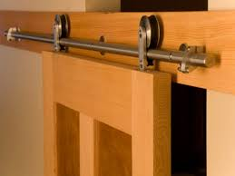 image of barn door track kit sliding barn door tracks hardware system regarding barn door