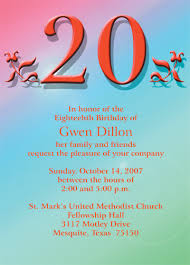 20 Birthday Cards 20th001in 360503 Pixels Party Invites Pinterest
