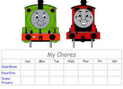 Thomas And Friends Reward Chart Thomas The Tank Engine