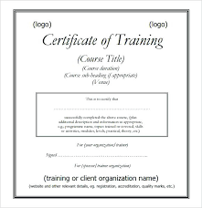 Course Completion Certificate Templates Training Template