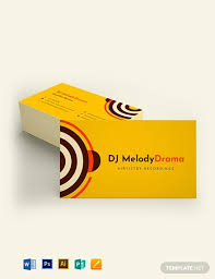 Simple Business Card Template Word 15 Dj Business Card Design Templates Pages Word Psd
