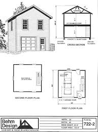 two story 1 car garage plan 722 2 by behm design has