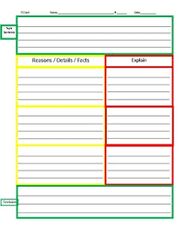 Step Up To Writing T Chart Step Up To Writing Style T Chart