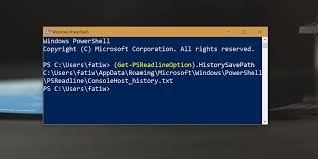 Powershell Windows How To Get The Powershell Command History On Windows 10