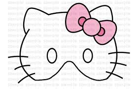 hello kitty mask template curriculum vitae refference hello kitty mask template hello kitty coloring pages 36 online toy dolls the party this