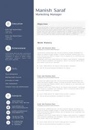 Free Sample Resume Of Marketing Manager Unique General Cv Doc Best
