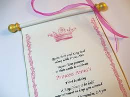 Scroll Birthday Invitations Royal Princess Invitation Scroll In Pink And Gold Artful Beginnings
