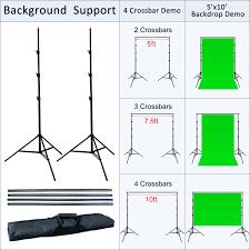10 x 13 chromakey green screen studio lighting kit w backdrop stand l linco inc